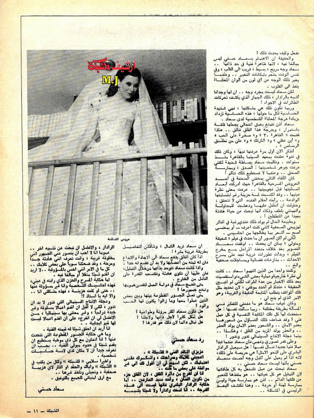 حوار صحفي : ناقد الشبكة يعالج سعاد حسني .. وسعاد ترد عليه قبل النشر 1978 م 211