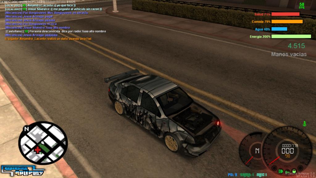 REPORTE  A Alejandro Laconte Y Alejo Montenegro  DM CAR Mta-sc19