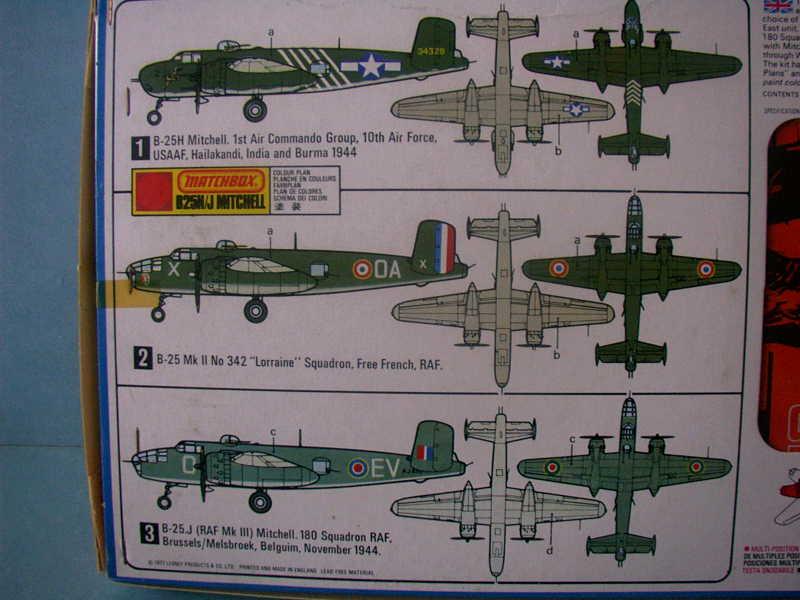 Comparatif NORTH AMERICAN B 25 MITCHELL 1/72ème Imag0218