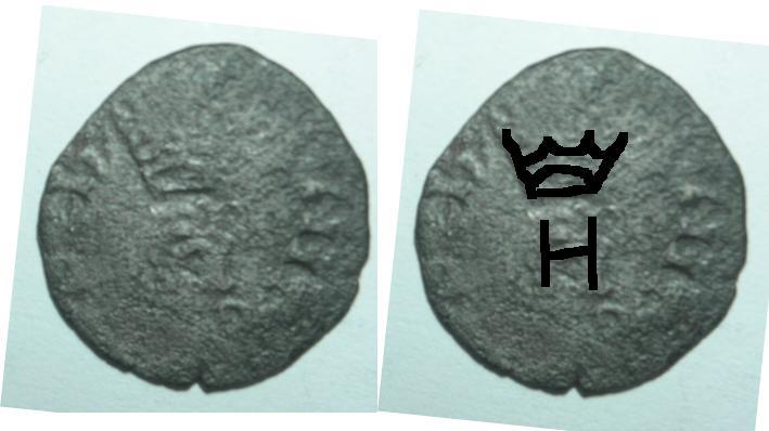 Liard à l'H de Henri III, Francia Henri10
