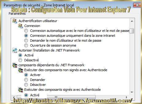 Scripts : Configurer WINDOWS Vista & Internet Explorer 7 Script13