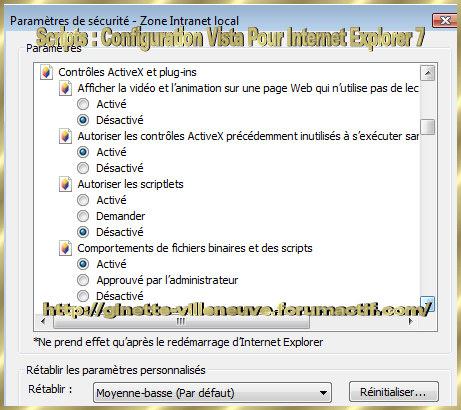 Scripts : Configurer WINDOWS Vista & Internet Explorer 7 Script14
