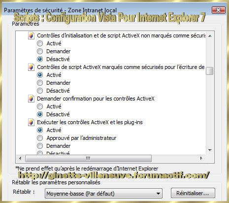 Scripts : Configurer WINDOWS Vista & Internet Explorer 7 Script15