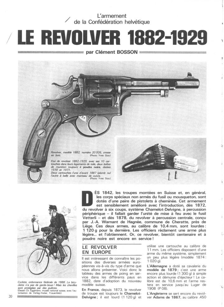 Le revolver suisse 1882-1929 1882-110