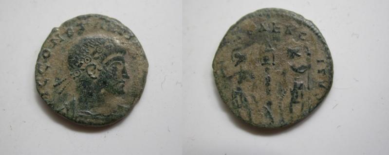 Medio Centenional de Constantino II (GLORIA EXERCITVS) 253_co10