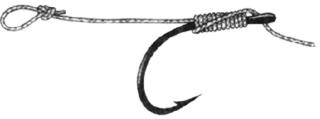 Le montage knotless knot ou montage noeud sans noeud 511