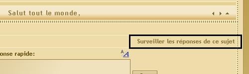 Surveillance des sujets, réponses, MP, rapports Watchr14