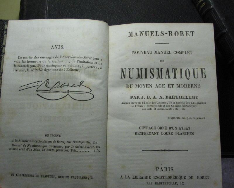 Numismatique moderne / ancienne -J.B.A.A. Barthelemy - 1842 et 1866 00216
