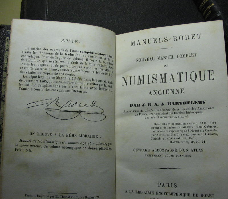 Numismatique moderne / ancienne -J.B.A.A. Barthelemy - 1842 et 1866 00313