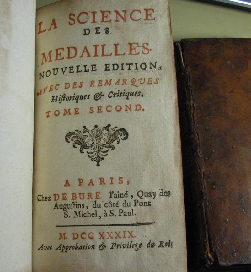 La science des médailles, nouvelle édition - 1739 00411