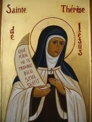 Belle fête de sainte Thérèse d'Avila! Sainte15