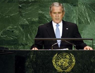 Bush face à l'Organisation des Nations unies Bush_a12