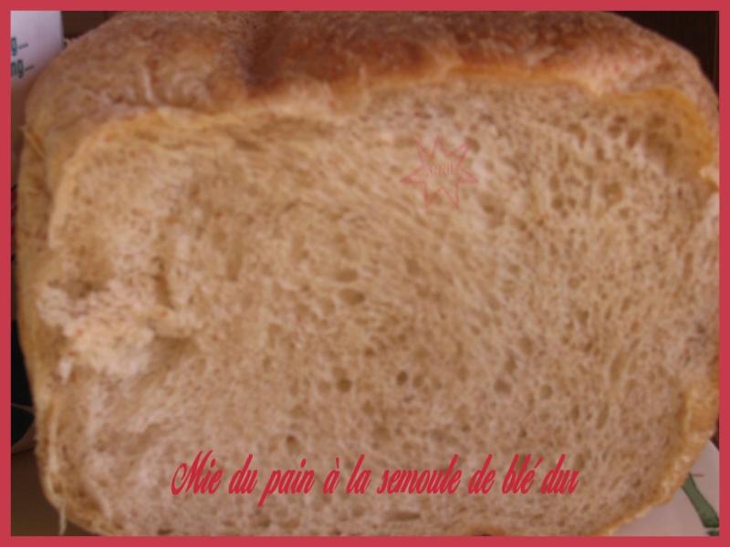 Pain à la semoule de blé dur 2007_018