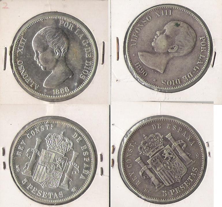 3 duros de Alfonso XIII; ¿falsas de época? Alfons11