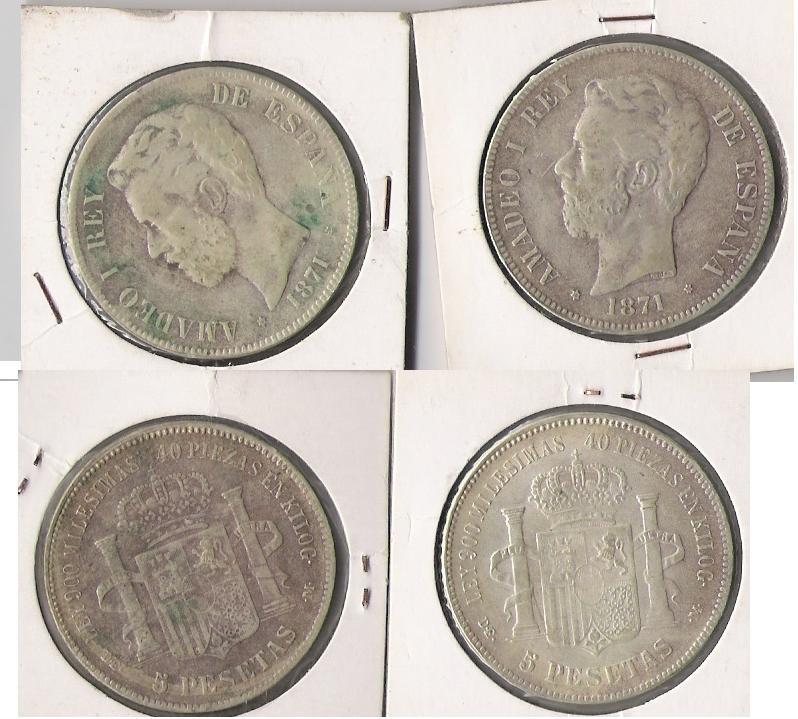 3 Duros de Amadeo I (Madrid, 1871 d.C) Falsas de época Amadeu10