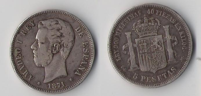 3 Duros de Amadeo I (Madrid, 1871 d.C) Falsas de época Amadeu12