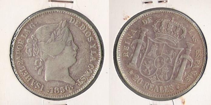 20 Reales de Isabel II Madrid, 1856 d.C) Isabel13