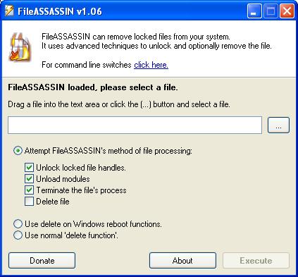 أداة FileASSASSIN  لحذف الملفات الغير قابلة للحذف Fileas10