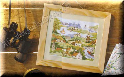 موديل تطريز : لوحة جدارية Stitch16