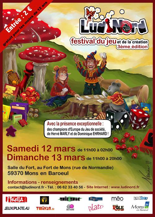 Ludinord - Mons en baroeul - 12 et 13 mars 2011 Affich10