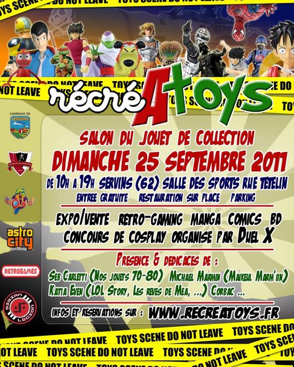 SERVINS LE 23 SEPTEMBRE 2012 SALON DU JOUET VINTAGE........ en page 4 Recrea10