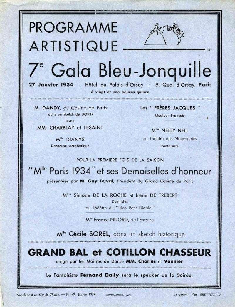 Gala bleu-jonquille de 1934 avec les Frères Jacques...!! Frares10