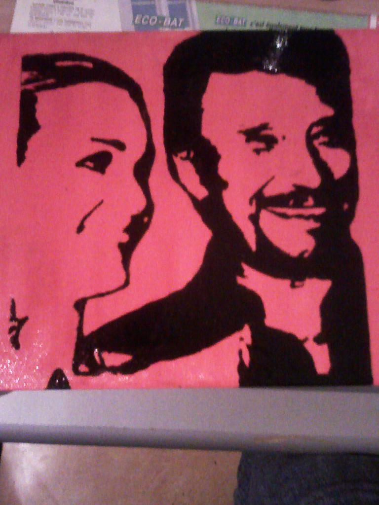 voici mon 2eme peinture que j'ai fait de johnny hallyday Image213
