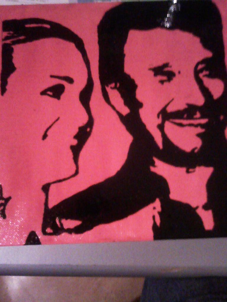 voici mon 2eme peinture que j'ai fait de johnny hallyday Image214