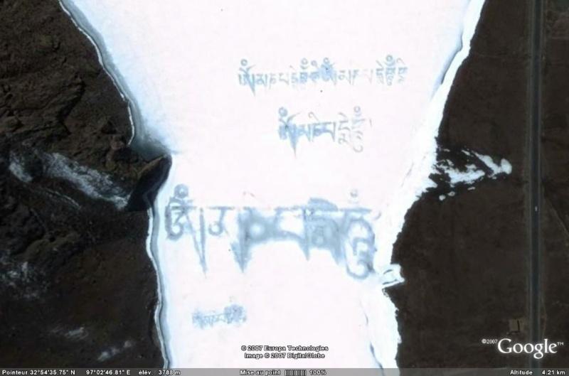 Ecritures Tibétaines géantes en Chine Tibet11