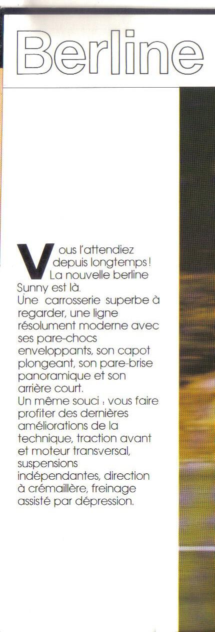 topic oficiel NISSAN SUNNY B11 Sunny_12