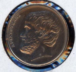 Grecia, 5 y 10 dracmas, 1990, 1982 5_drac10