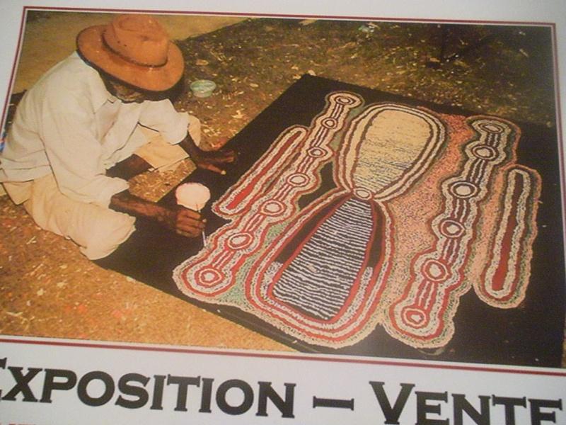 Aborigènes d'Australie, Peintres du Rêve - Paris Dscn6710