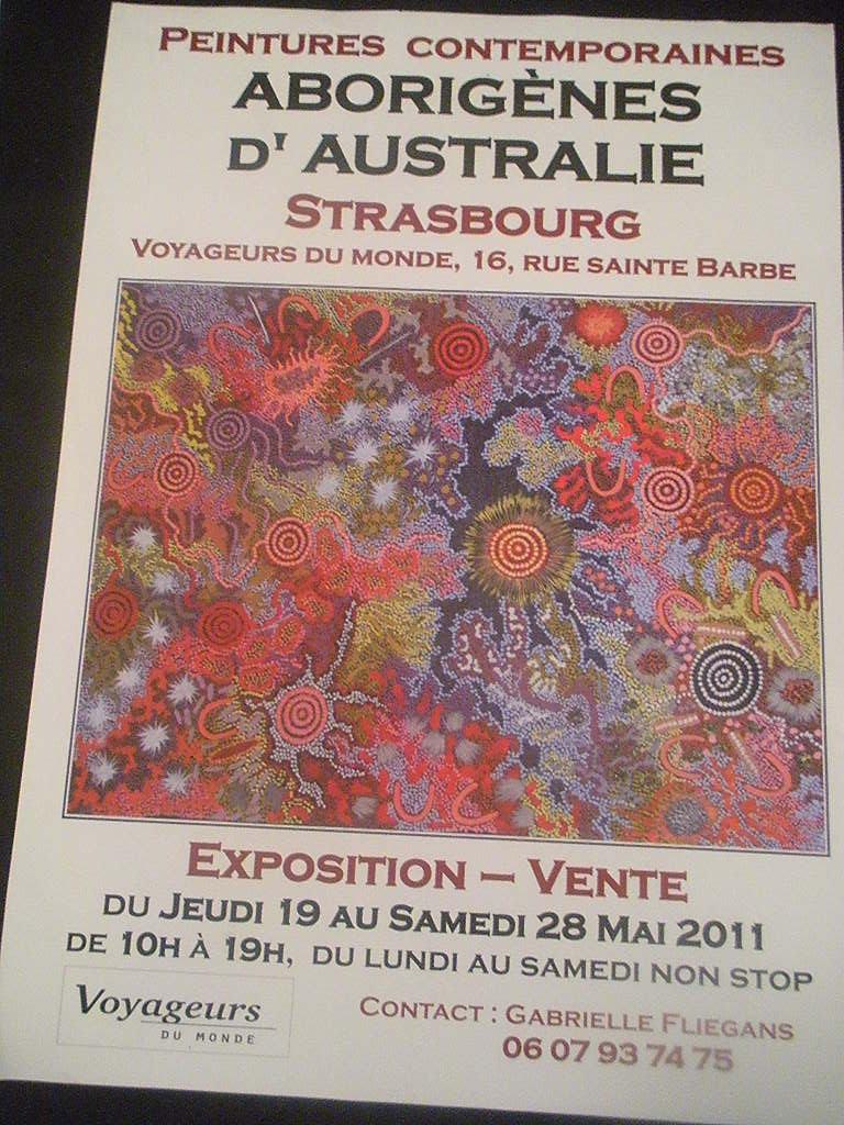 Peinture contemporaines Aborigènes d'Australie - Strasbourg Dscn6712