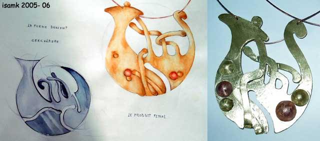 أعمال طلبة السنة الثانية تصميم المصوغ 2005-2006 (isamk) Bijoux10