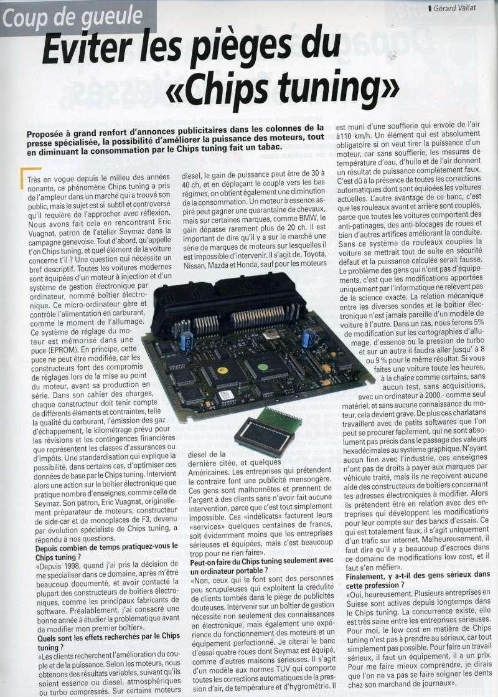 Article sur les chip tuning dans la ruve sport-auto Articl10