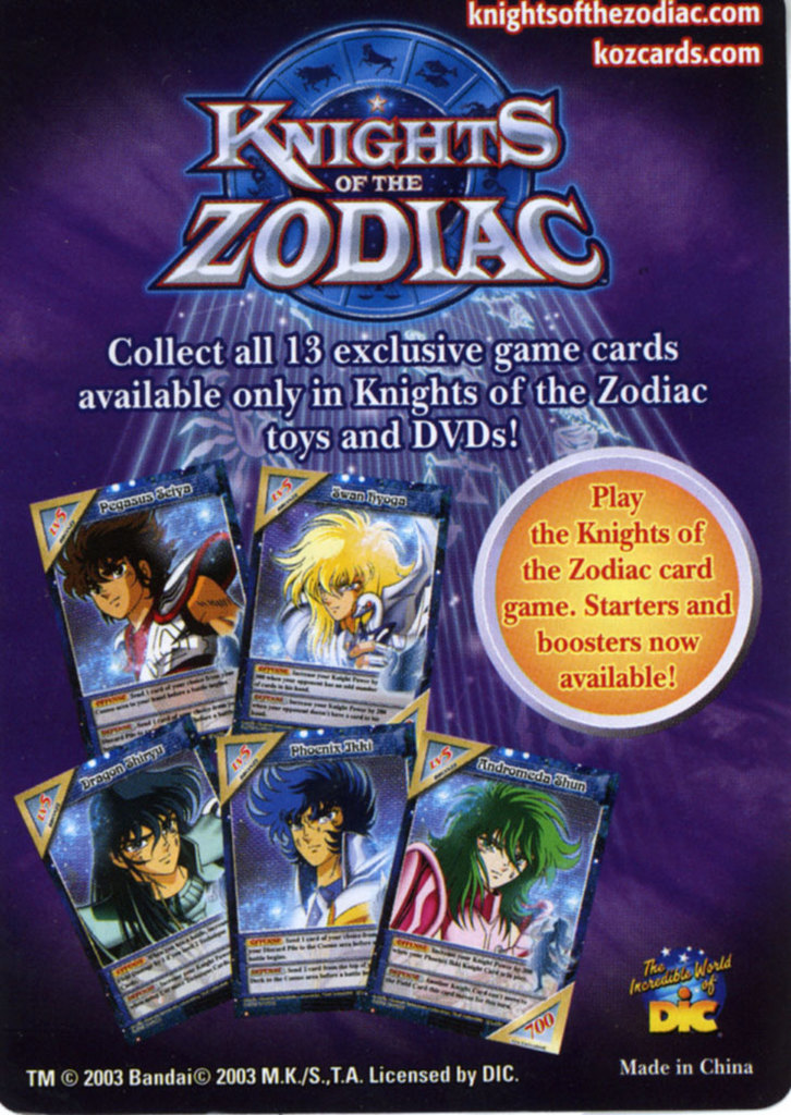 Knights of the Zodiac Cards Ad110