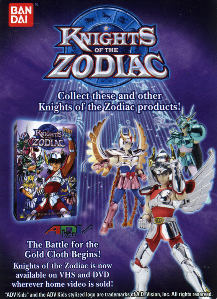 Knights of the Zodiac Cards Ad210