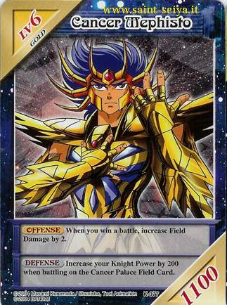 Knights of the Zodiac Cards Ccgk0716