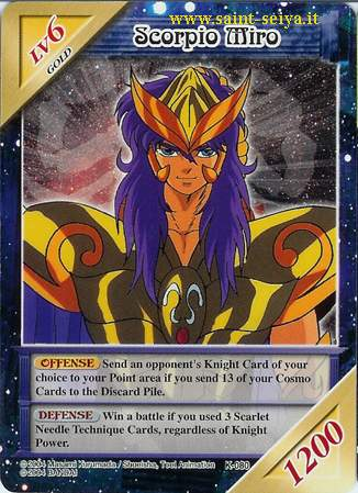 Knights of the Zodiac Cards Ccgk0810
