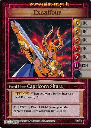 Knights of the Zodiac Cards Ccgt0618