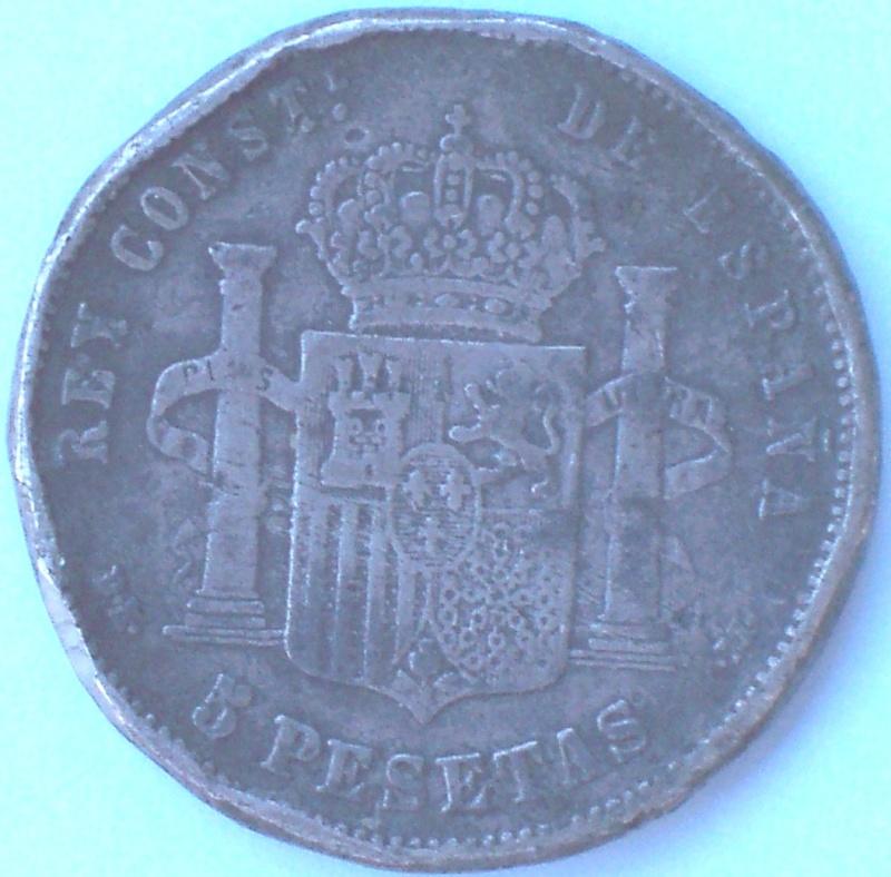 Dos duros de Alfonso XII y Alfonso XIII; falsos 212_r10