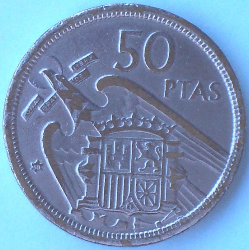 50 Pts. de Franco (Madrid, 1957 d.C) Falsas 220_r10