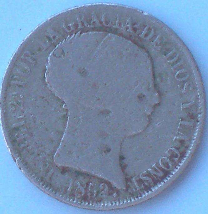 4 Reales de Isabel II (Madrid, 1852 d.C) falsa de época 74_a10