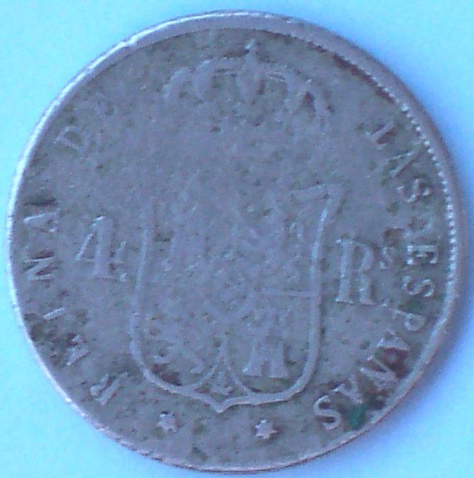 4 Reales de Isabel II (Madrid, 1852 d.C) falsa de época 74_r10