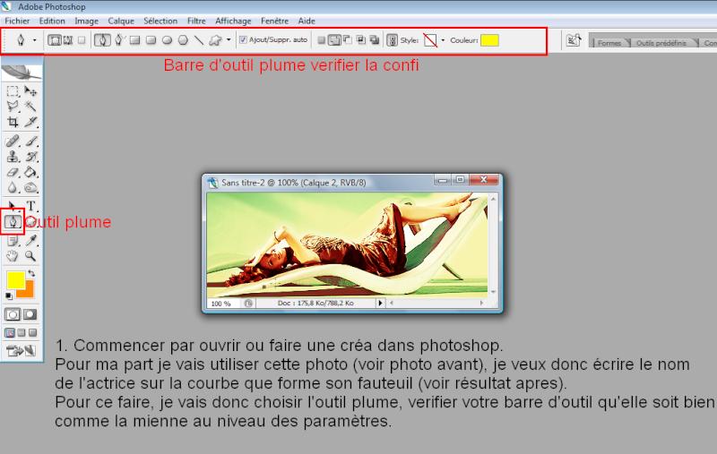 [Photoshop] Ecrire autour d'un objet 110