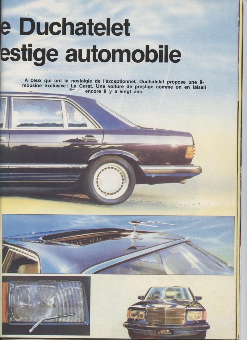 "(W126): Modelo especial ""CARAT"" da francesa DUCHATELET Image22"
