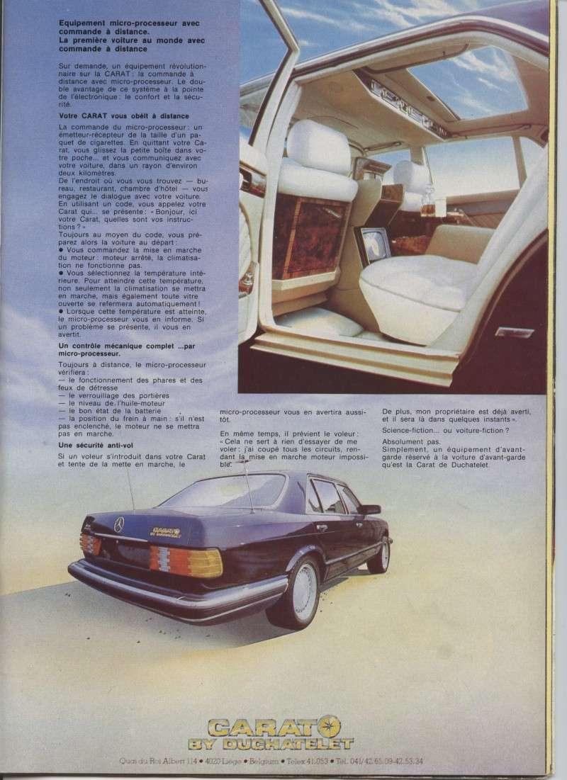 "(W126): Modelo especial ""CARAT"" da francesa DUCHATELET Image26"
