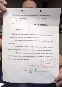 God Lawsuit Gets Answers Dougla10