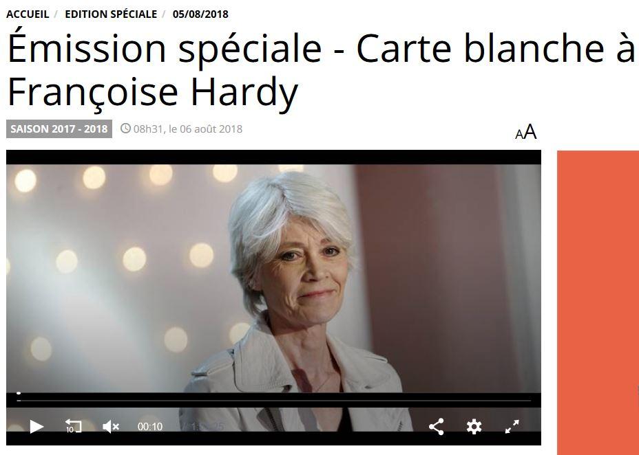5 août 2018 - Carte blanche à Françoise Hardy sur Europe 1 Captu186