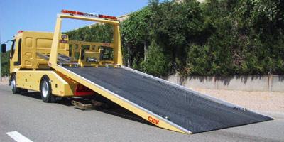 Rail sur roullettes déplace moto Depann10